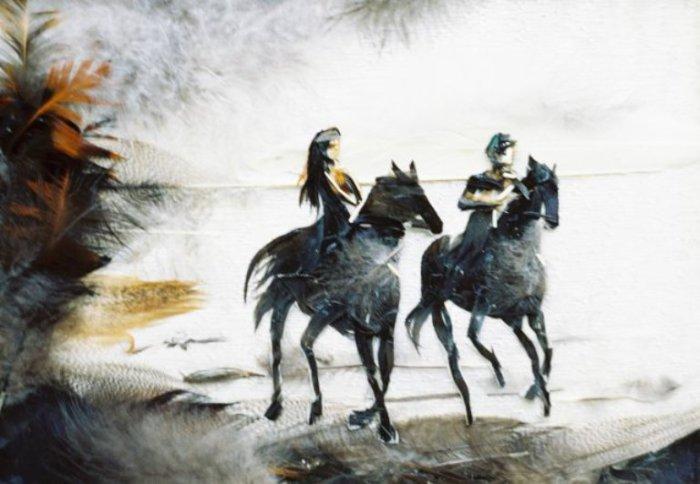 Прогулка на лошадях. Автор: Басараб Наталья.