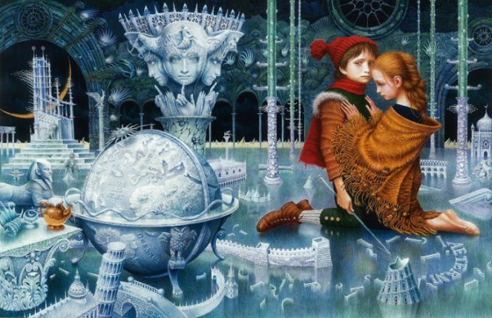 Иллюстрация Владислава Ерко к сказке Г. Х. Андерсена «Снежная королева».