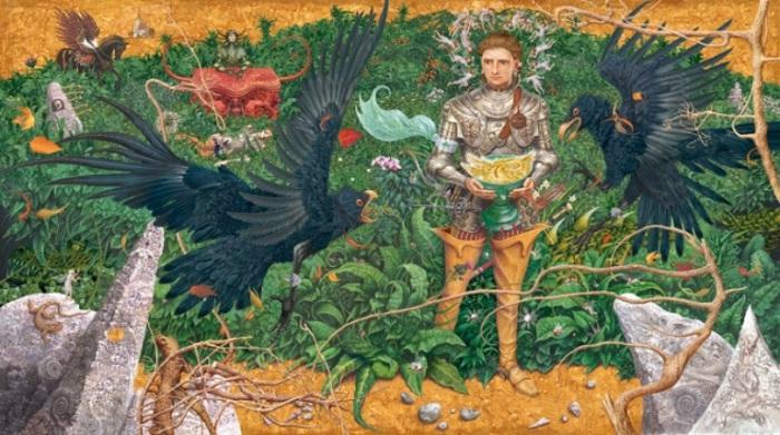 Иллюстрация к британским рыцарским «Сказкам Туманного Альбиона». Автор: Владислав Ерко.