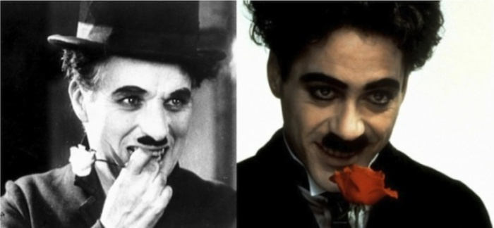 Чарли Чаплин и Роберт Дауни Младший, «Чаплин».