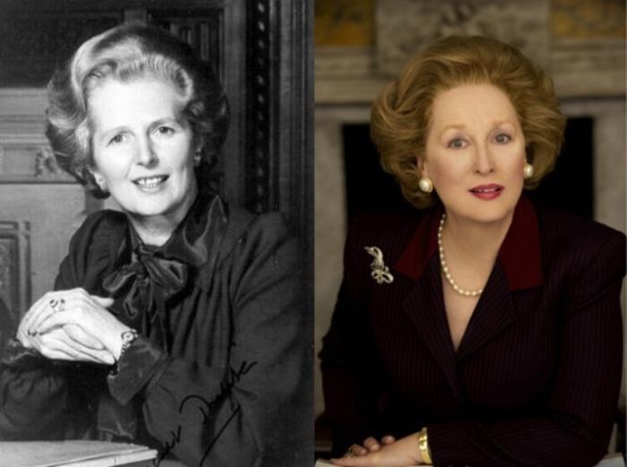 Маргарет Тэтчер и Мерил Стрип, «Железная леди».
