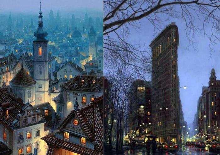 Вымышленные города.