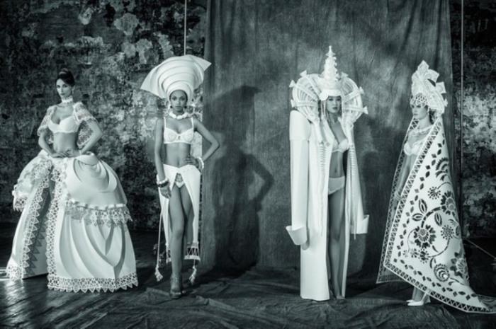 Необычные бумажные наряды от дизайнера Аси Козиной.