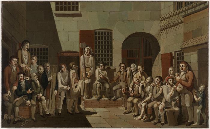 Инсценировка судебного процесса 1812 года. \ Фото: sl.nsw.gov.au.