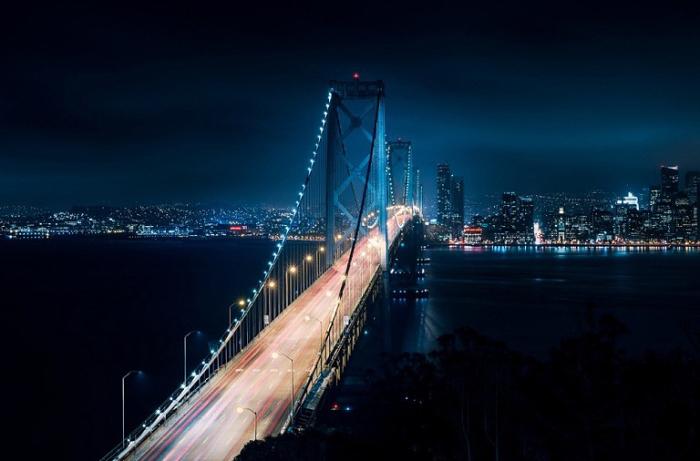 Ночной Сан-Франциско, США.
