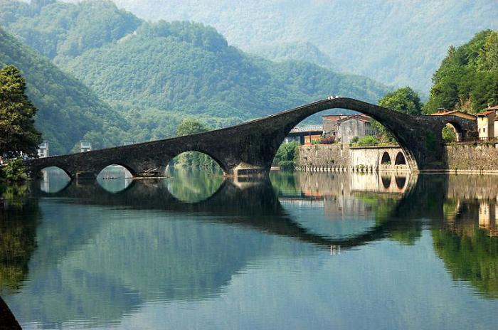 Мост Ponte Del Diavolo, Италия.