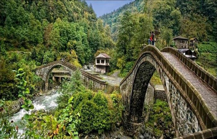 Мост Doublebelt, Артвин, Турция.