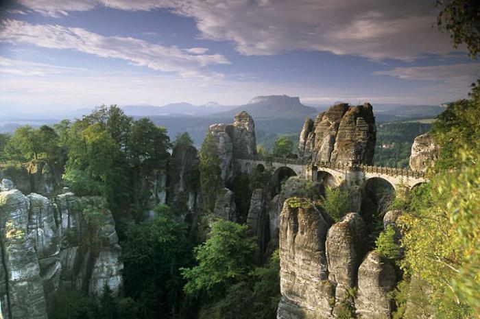 Бастайский мост, Саксонская Швейцария, Германия.