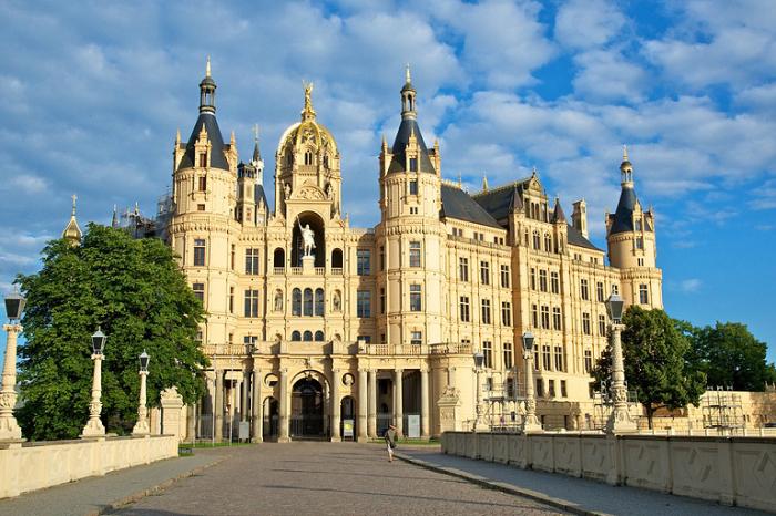 Замок Шверин, Германия.