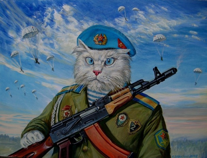 Пушистый белый десант. Автор: Александр Завалий.