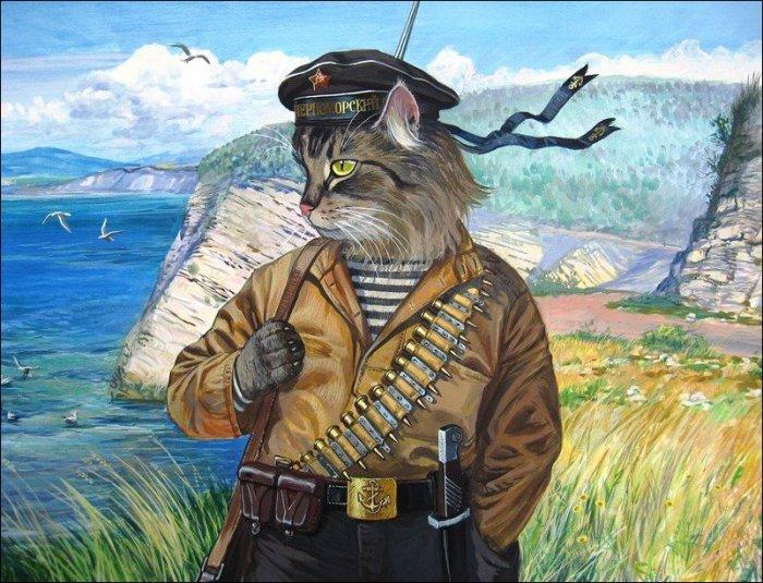Военный моряк, душа в полоску (Талисман морской бригады). Автор: Александр Завалий.