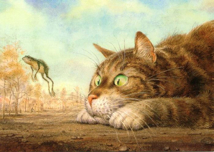 Летающий лягушонок. Автор: российский художник Владимир Румянцев.