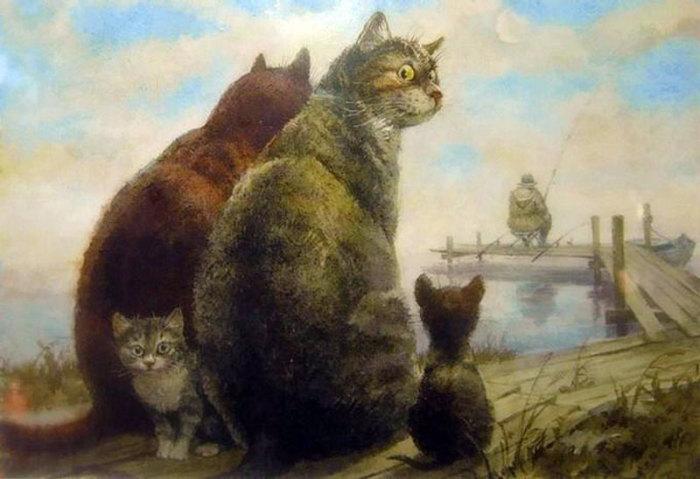 Рыбнадзор. Автор: российский художник Владимир Румянцев.