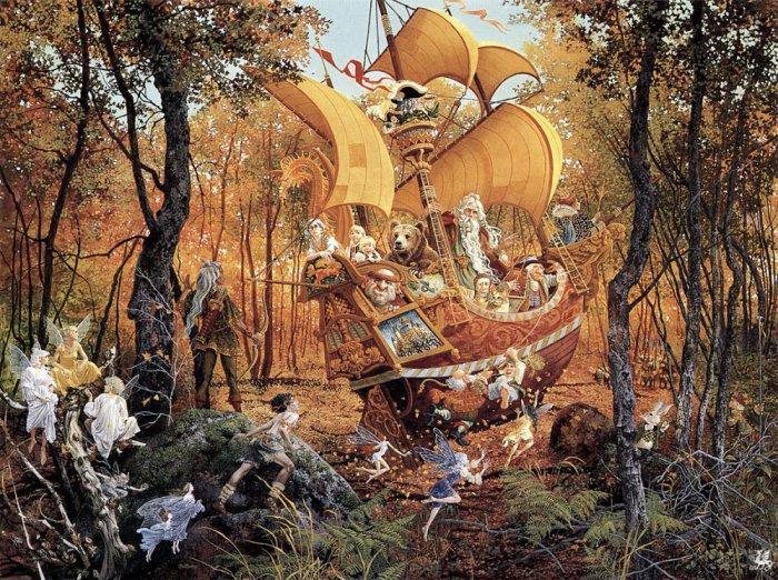 Сказочный корабль. Автор: Christensen James C.