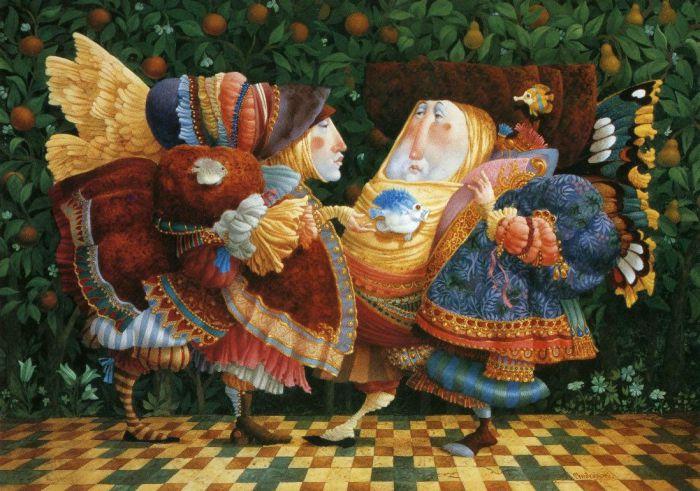 Беседа в саду. Автор: Christensen James C.