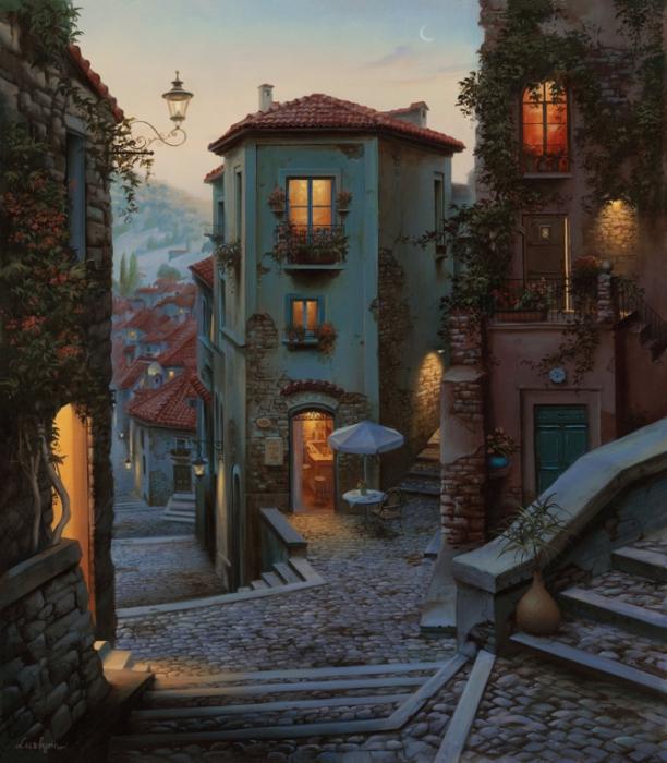 Улицы неведомого города.