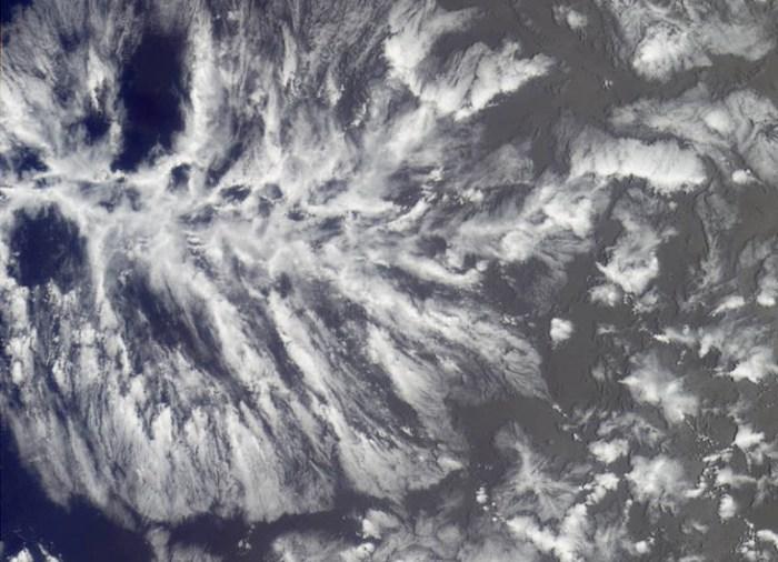 Пенное море из облаков.