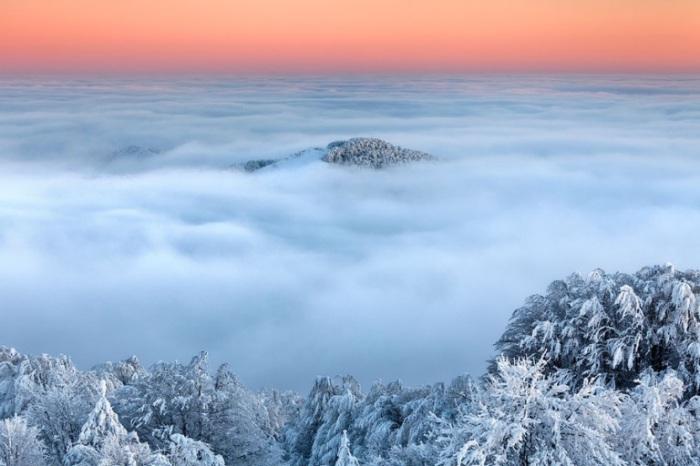 Зимние облака.
