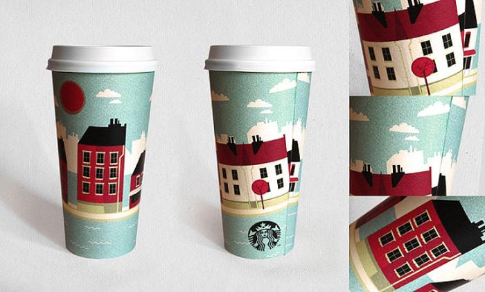 Starbucks Coffee Cup by Oksal Yesilok.