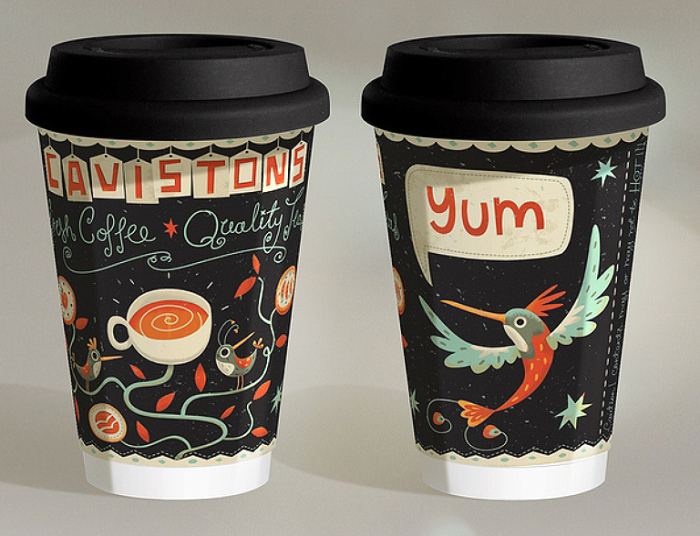 Coffee Cup Design by Steve Simpson.