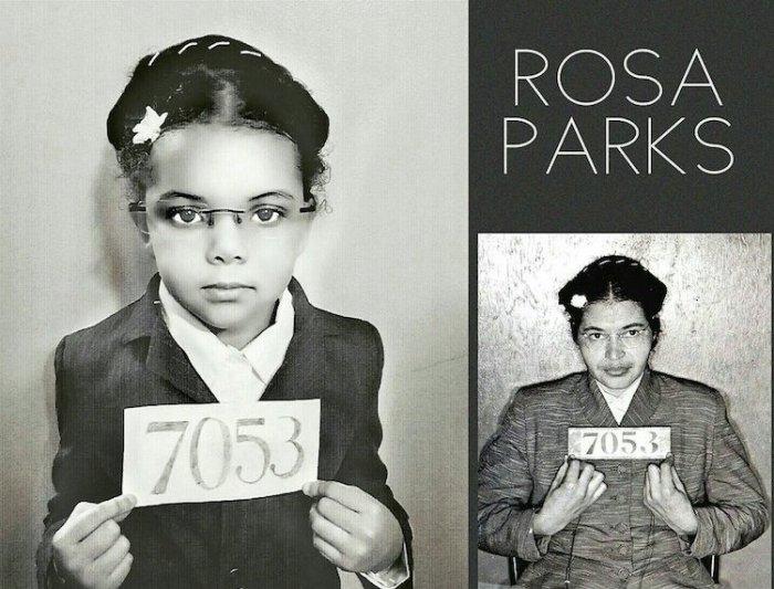 Роза Паркс - общественный деятель, борец за права чернокожих. Автор: Cristi Smith-Jones.