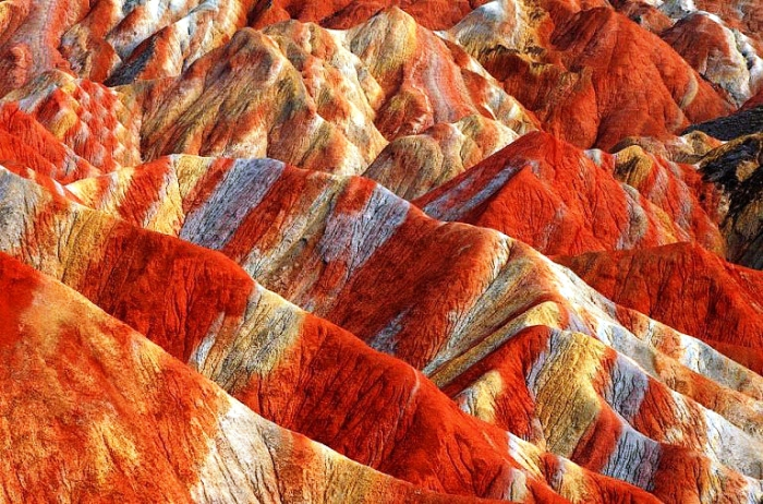 Великолепные цветные горы. Китай, Данься.