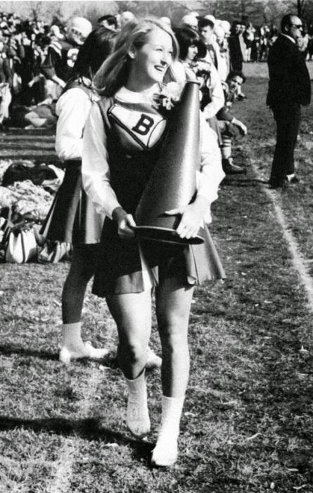 Мерил Стрип в школе черлидеров, 1960 год, Калифорния.