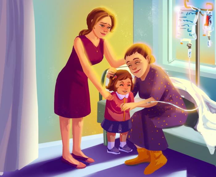 Мама всегда будет держаться ради нас. Автор: Natalia Breeva.