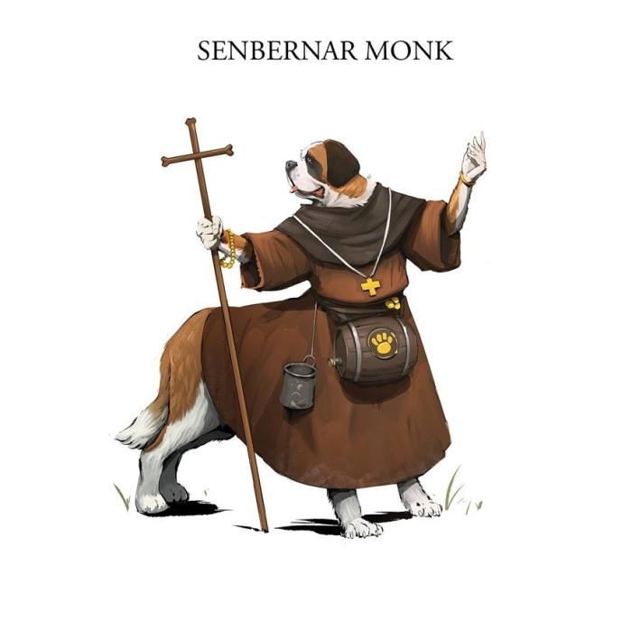 Художник рисует забавные иллюстрации собак в средневековых доспехах