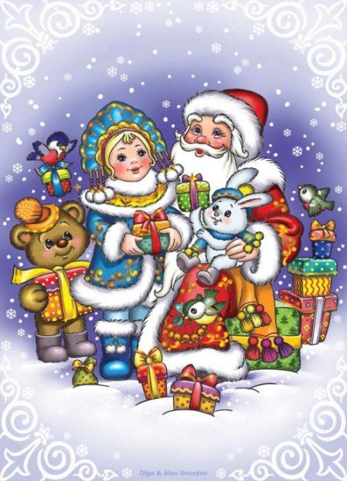 Новогоднее поздравление. Авторы: Ольга и Алексей Дроздовы.