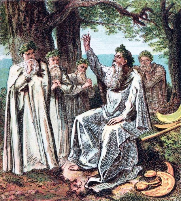 Друиды Старой Англии, Джозеф Мартин Кронхайм, 1868 год. \ Фото: geomagische-reisen.de.