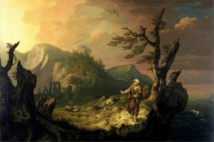 Бард, Томас Джонс, 1774 год. \ Фото: