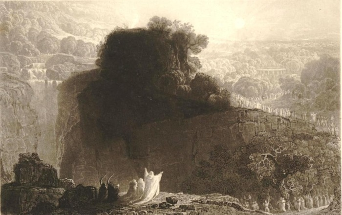 Алтарь друида, Уильям Оверенд Геллер, 1830-е годы. \ Фото: britishmuseum.org.