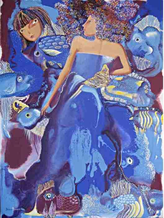 50 оттенков синего. Автор: Елена Дюмин.