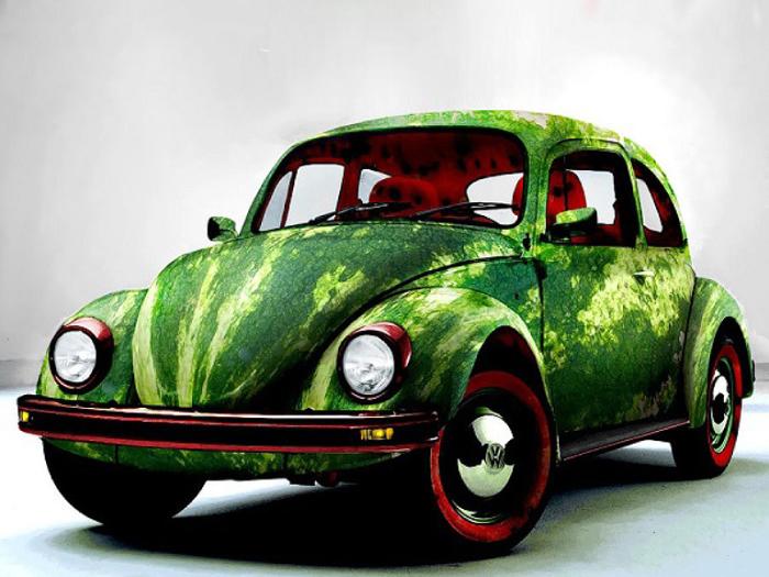 Арбузный автомобиль.