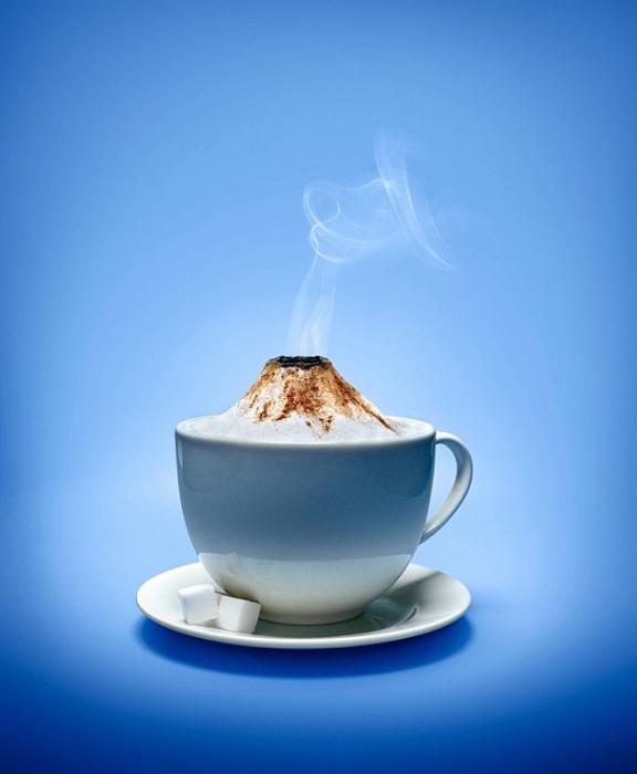 Кофейный вулкан.