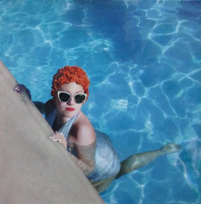 Пейдж в бассейне. Автор: Elise Remender.