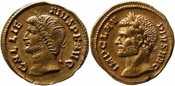 Монеты императоров Галлиена и Клавдия II Готского, 265 и 269 гг. н. э. \ Фото: google.com.