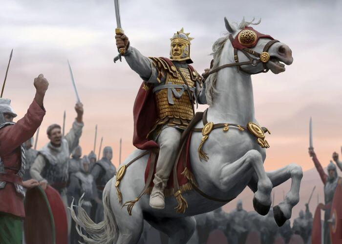 Кадр из игры «Рим II: Тотальная война»: Император Аврелиан. \ Фото: shogun-2-total-war.
