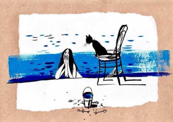 На пляже. Автор: Евгения Двоскина.