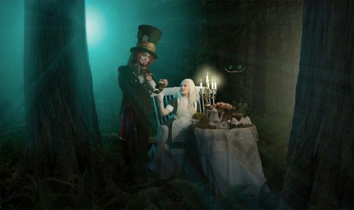 Алиса и Безумный Шляпочник. Автор: Tiina Anttila.