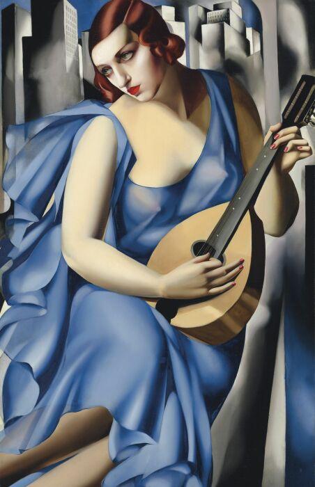 La Musicienne, Тамара Лемпицка, 1929 год. \ Фото: bloombergquint.com.