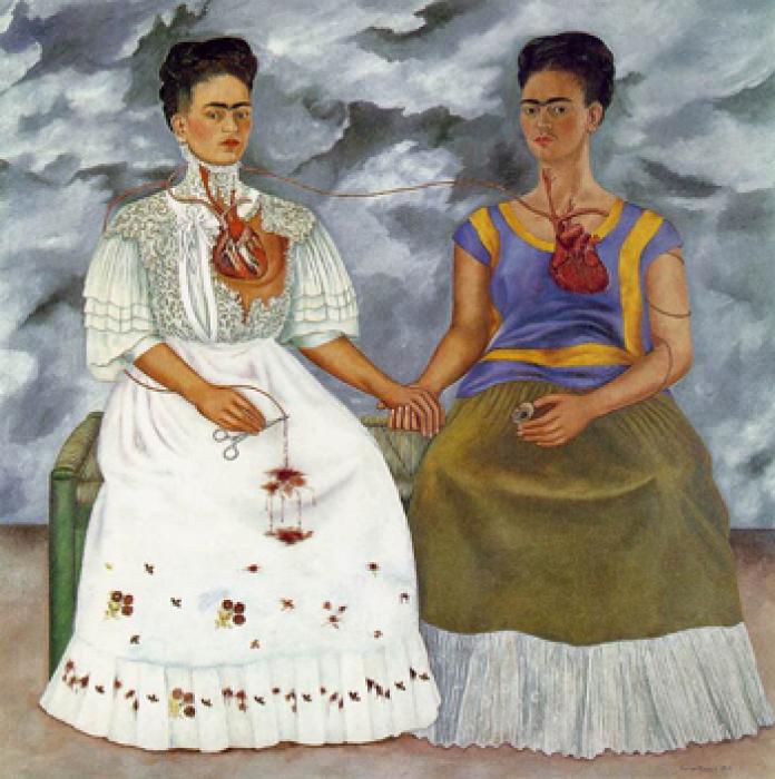 Две Фриды, Фрида Кало, 1939 год. \ Фото: wordpress.com.
