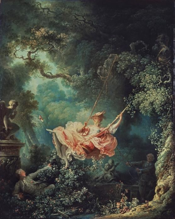 Качели, Жан-Оноре Фрагонар, 1767 год. \ Фото: hashtagtravelling.com.