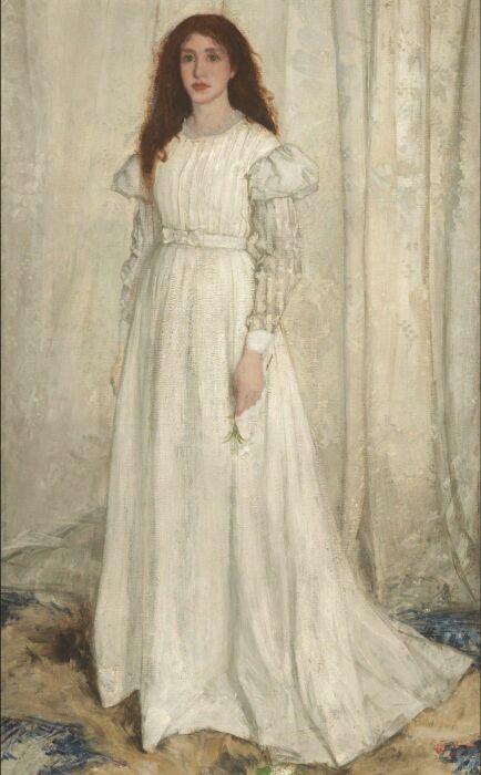 Симфония в белом № 1, Джеймс Эббот Мак-Нейл Уистлер, 1862 год.\ Фото: post.naver.com.