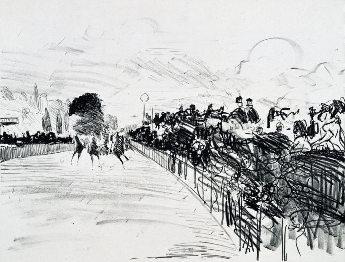 Скачки (Les Courses),  Эдуард Мане, 1865-72 гг. \ Фото: ja.wikipedia.org.