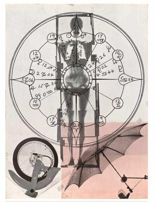 Фрагмент Автобиография: Рентгеновский снимок, Роберт Раушенберг, 1968 год. \ Фото: sfmoma.org.