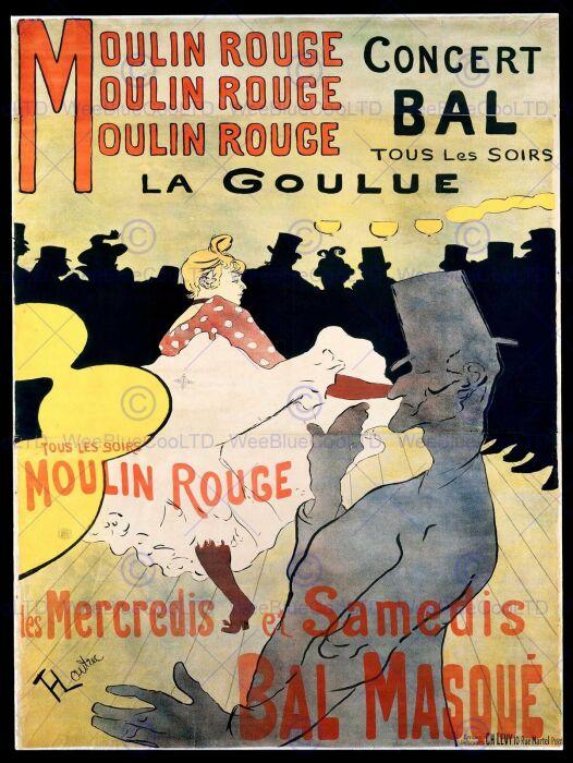 Мулен Руж: Ла Гулю, Анри де Тулуз-Лотрек, 1891 год. \ Фото: blogspot.com.