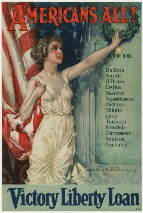 Американцы Всё!, Говард Чандлер Кристи, 1919 год. \ Фото: moma.org.