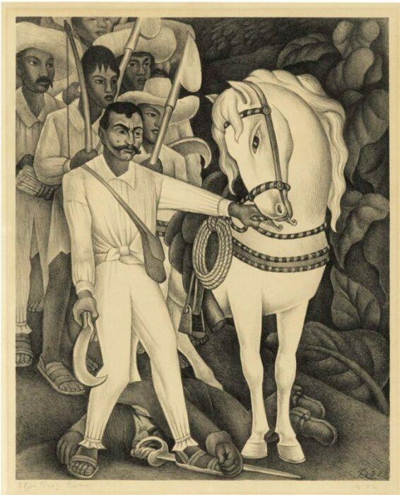 Эмилиано Сапата, Диего Ривера, 1932 год. \ Фото: google.com.